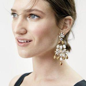 J Crew Crystal Gossamer Statement Earrings